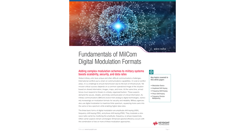 Fundamentals of MilCom Digital Modulation Formats
