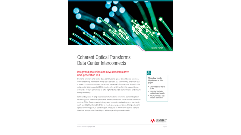 Coherent Optical Transforms Data Center Interconnects