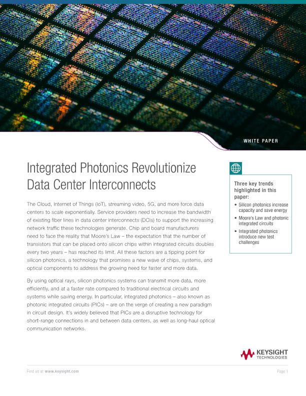Integrated Photonics Transform Data Center Interconnects (DCI)