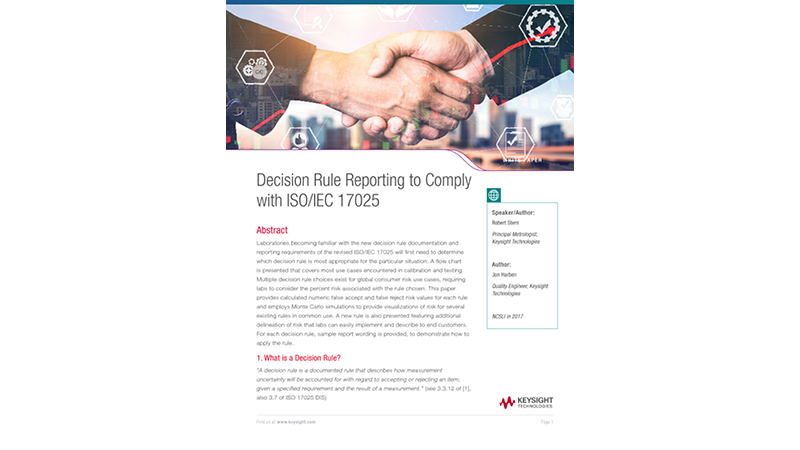 Decision Rule Reporting to Comply with ISO/IEC 17025