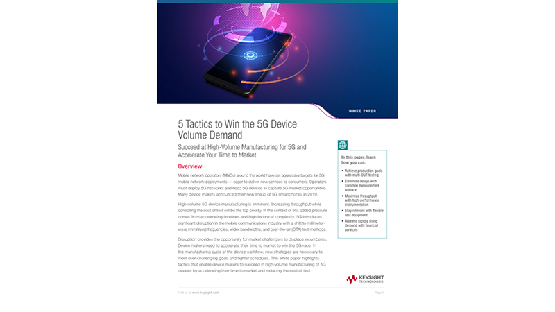 5 Tactics to Win the 5G Smartphone Device Volume Demand