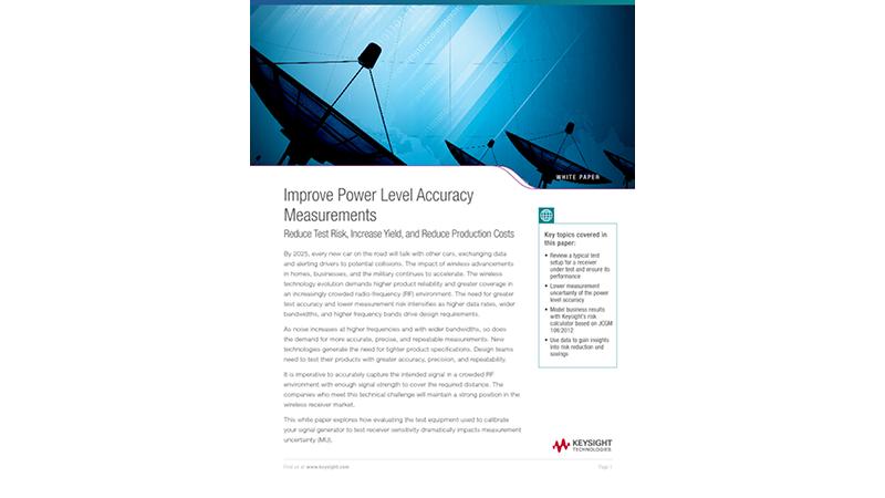 Improve Power Level Accuracy Measurements