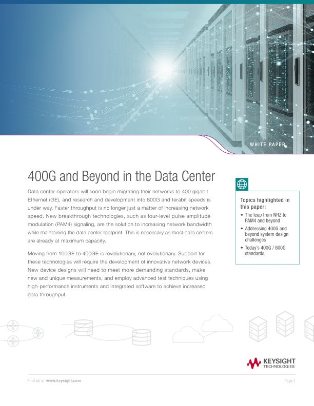 400G and Beyond in the Data Center