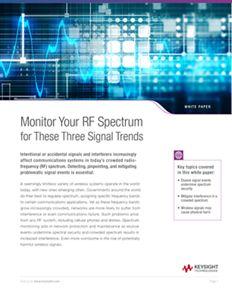 RF Spectrum Monitoring Signal Trends