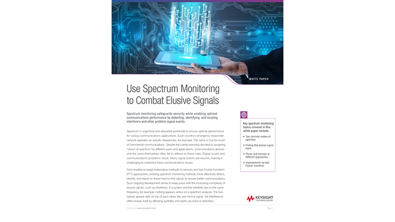 Use Spectrum Monitoring to Combat Elusive Signals