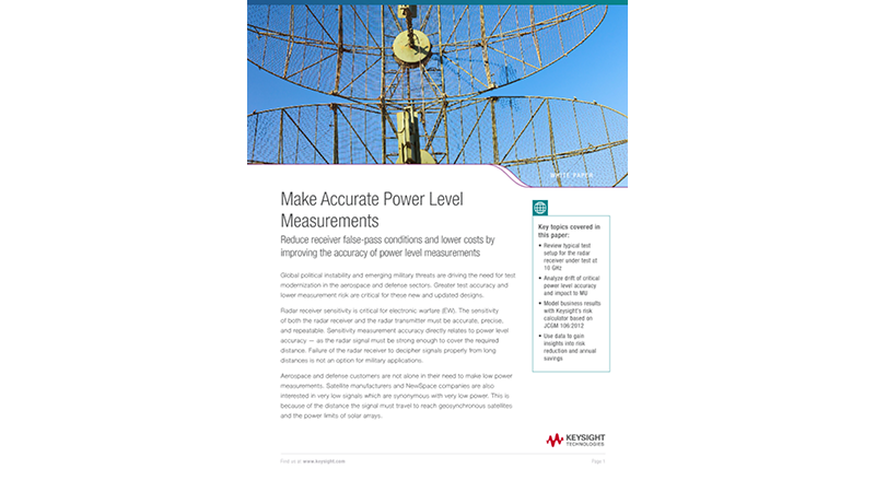 Make Accurate Power Level Measurements