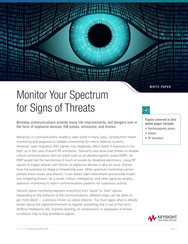 Monitor Your RF Spectrum for Threats