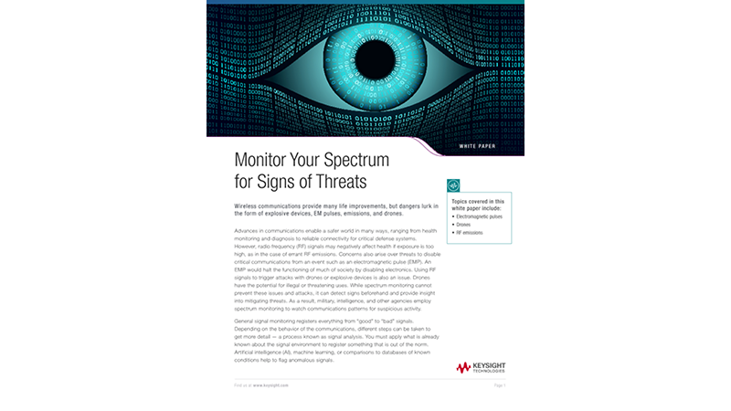 Monitor Your Spectrum for Signs of Threats