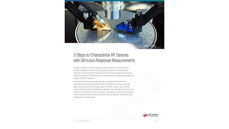 Characterize RF Devices with Stimulus-Response Measurements