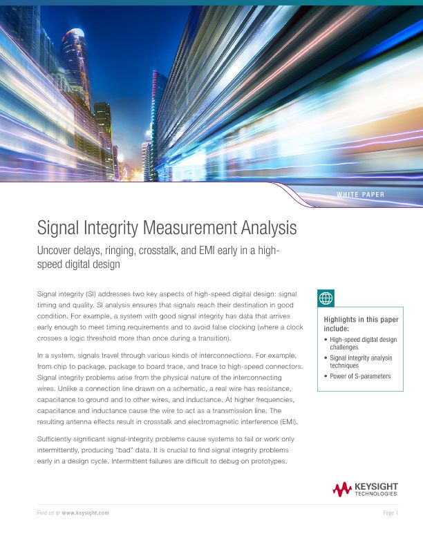 Signal Integrity Measurement Analysis