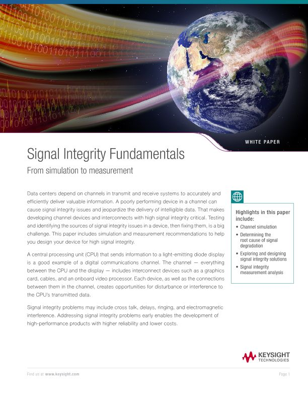 Signal Integrity Fundamentals