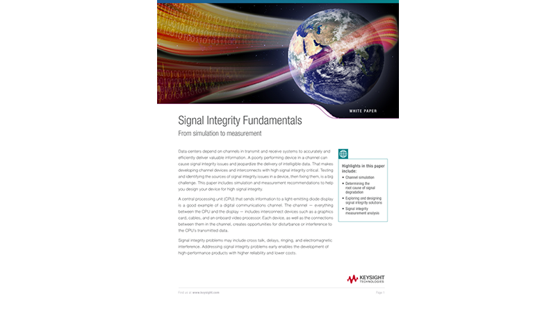 Signal Integrity Fundamentals