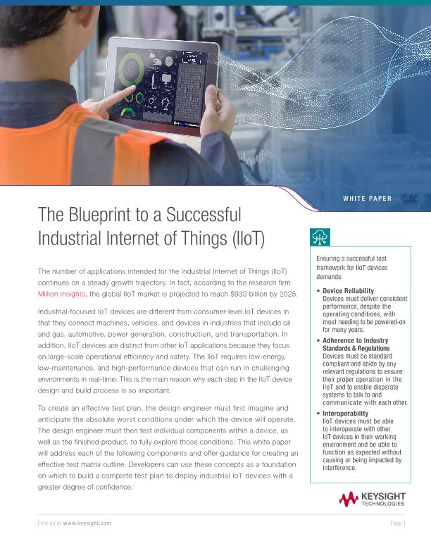 Industrial Internet of Things (IIoT) Blueprint to Success