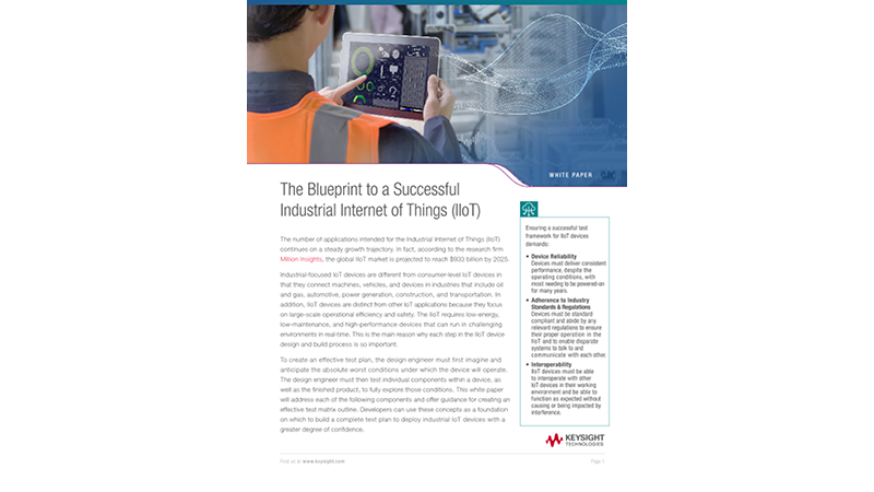 The Blueprint to a Successful Industrial Internet of Things