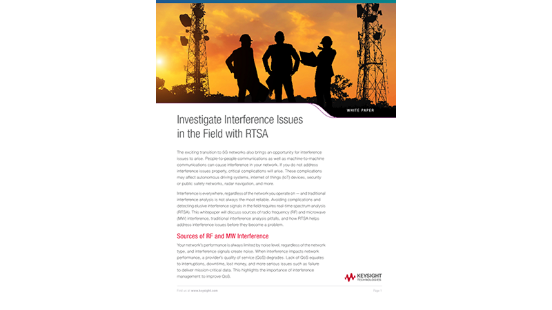 Investigate Interference Issues in the Field with RTSA