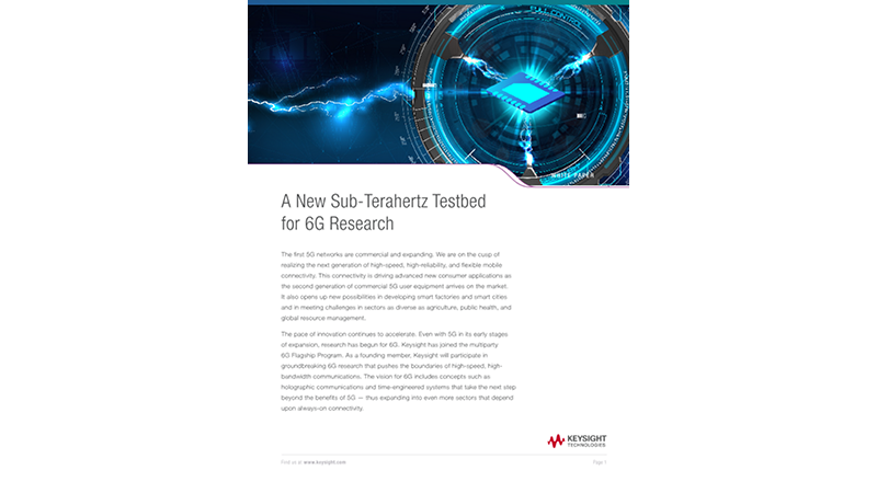 A New Sub-Terahertz Testbed for 6G Research