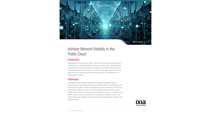 Achieve Network Visibility in the Public Cloud