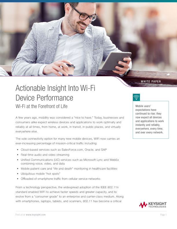 Actionable Insight into Wi-Fi Device Performance