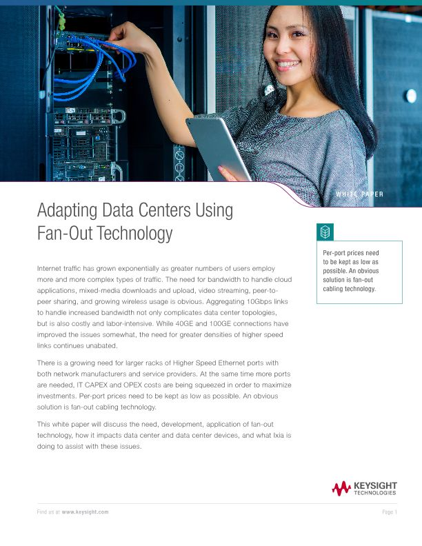 Adapting Data Centers Using Fan-Out Technology