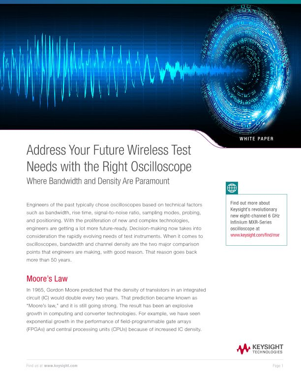 Address Your Future Wireless Test Needs with the Right Oscilloscope