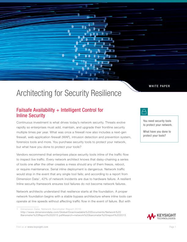 Architecting For Security Resilience