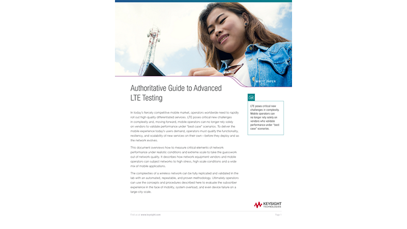Authoritative Guide to Advanced LTE Testing