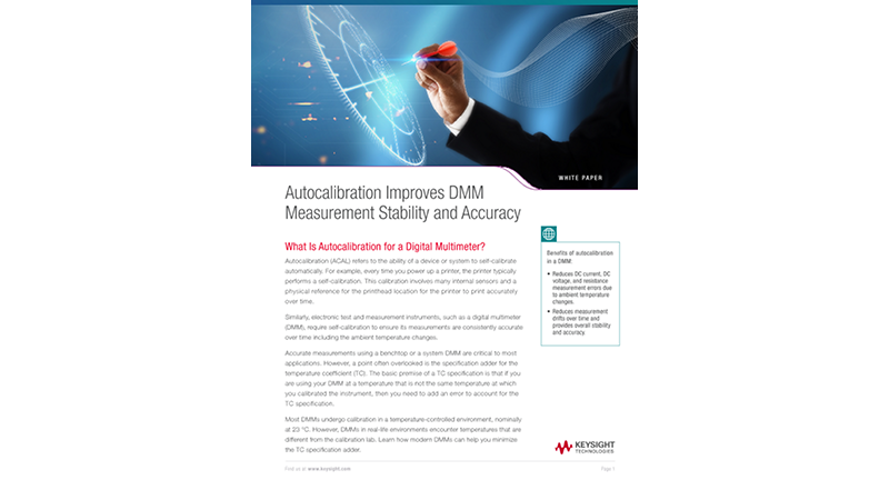 Autocalibration Improves DMM Measurement Stability and Accuracy