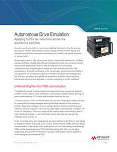 Autonomous Drive Emulation