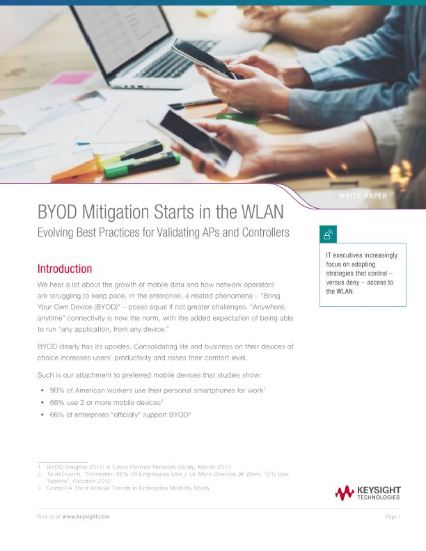 BYOD Mitigation Starts in the WLAN