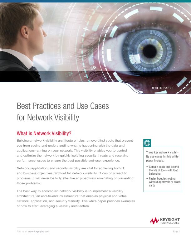 Best Practices and Use Cases for Network Visibility
