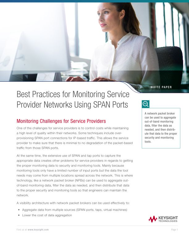 Best Practices for Monitoring Service Provider Networks Using SPAN Ports