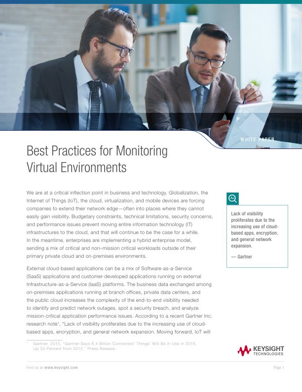 Best Practices for Monitoring Virtual Environments