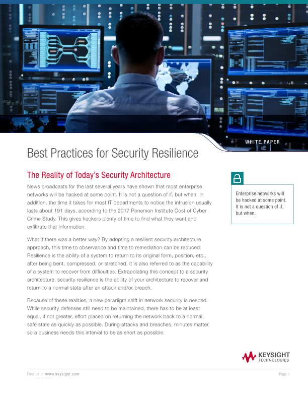 Best Practices for Security Resilience