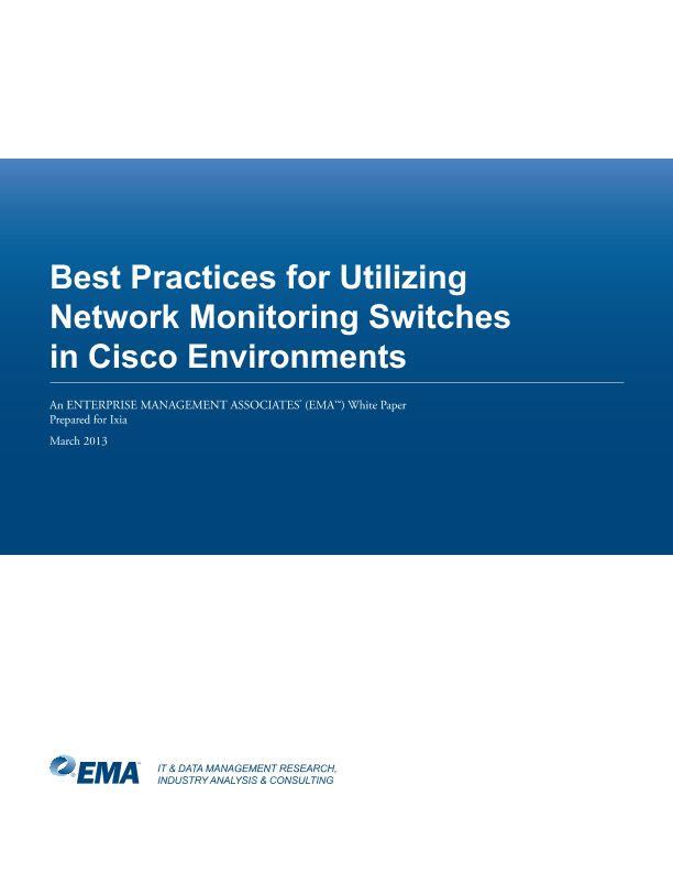 Best Practices for Utilizing Network Monitoring Switches in Cisco Environments