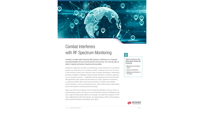 Combat Interferers with RF Spectrum Monitoring