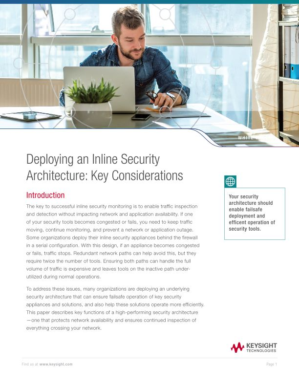 Deploying an Inline Security Architecture: Key Considerations