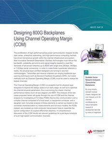 Designing 800G Backplanes Using Channel Operating Margin (COM)