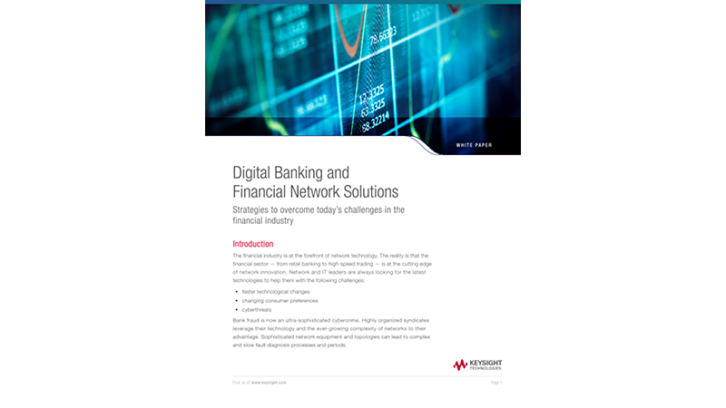 Digital Banking and Financial Network Solutions