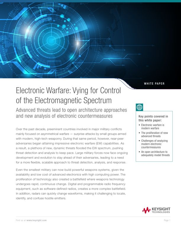 Electronic Warfare: Vying for Control of the Electromagnetic Spectrum