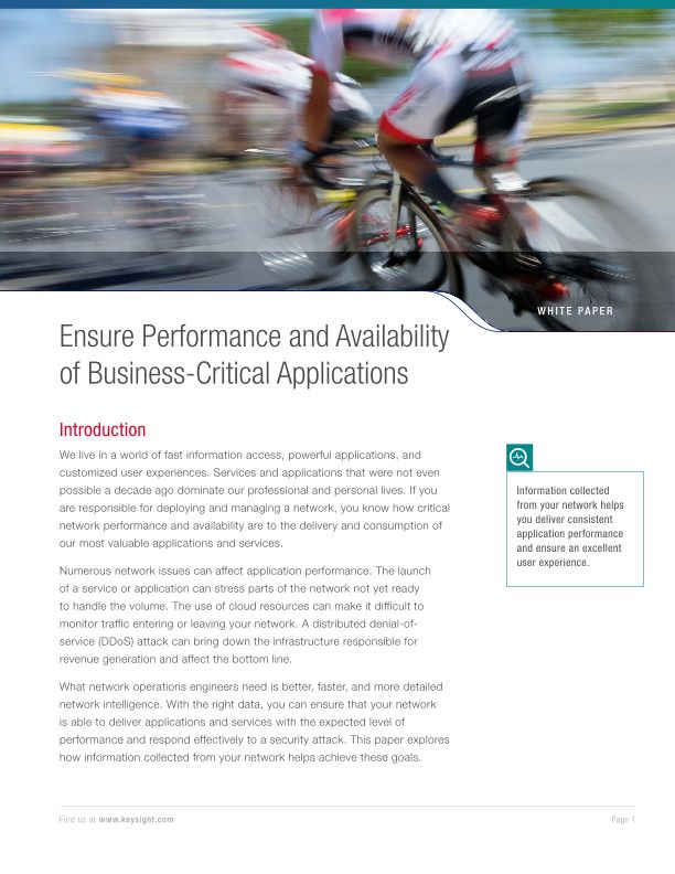 Ensure Performance and Availability of Business-Critical Applications