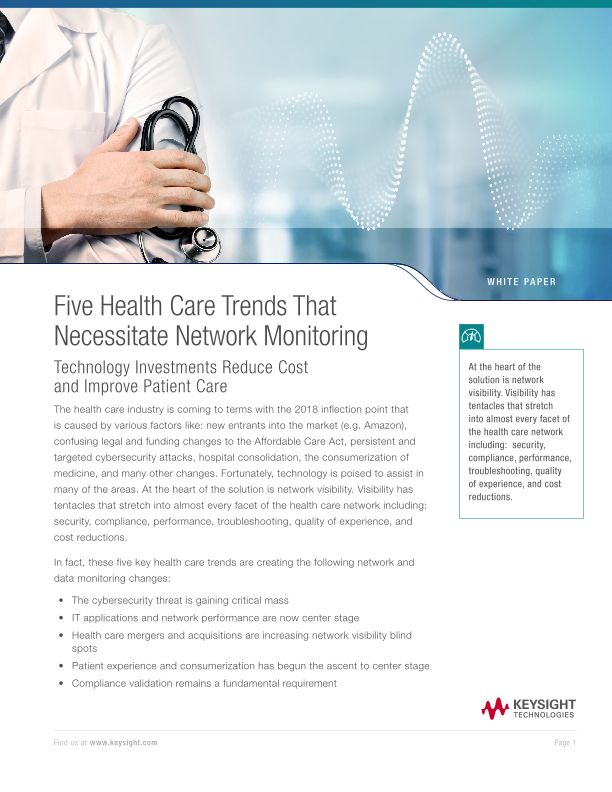Five Health Care Trends That Necessitate Network Monitoring