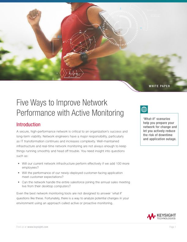 Five Ways to Improve Network Performance with Active Monitoring