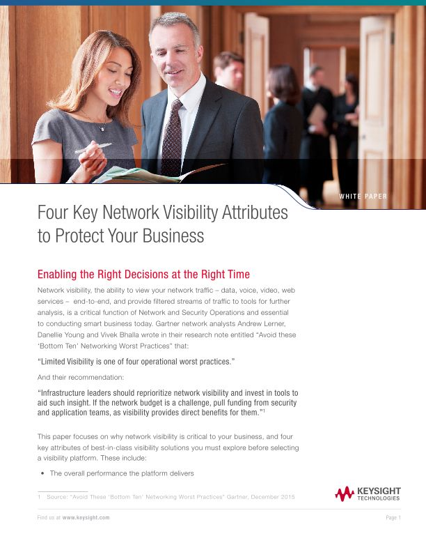 Four Key Network Visibility Attributes to Protect Your Business