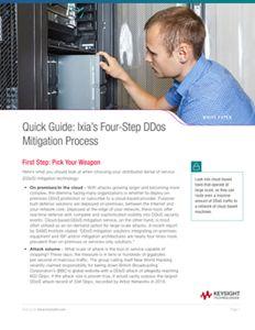 Quick Guide: Ixia's Four-Step DDos Mitigation Process