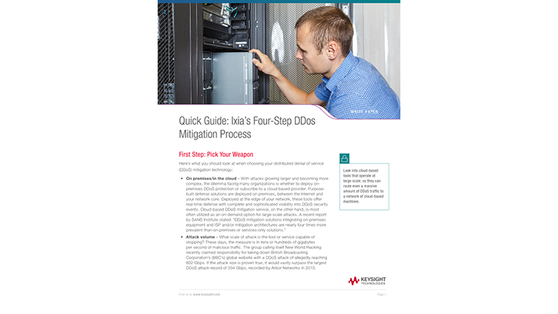 Quick Guide: Ixia's Four-Step DDos Mitigation Process