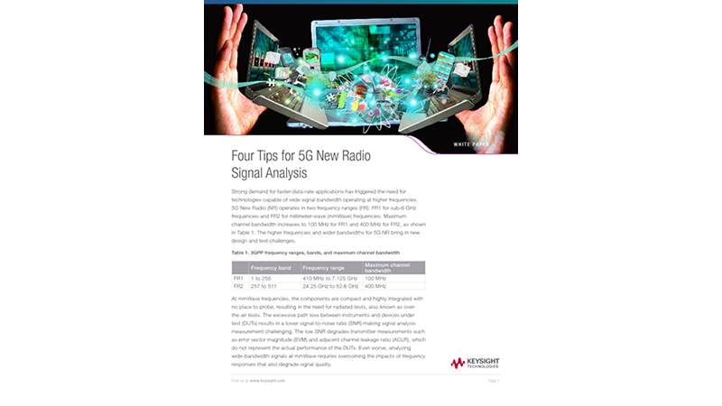 Four Tips for 5G New Radio Signal Analysis