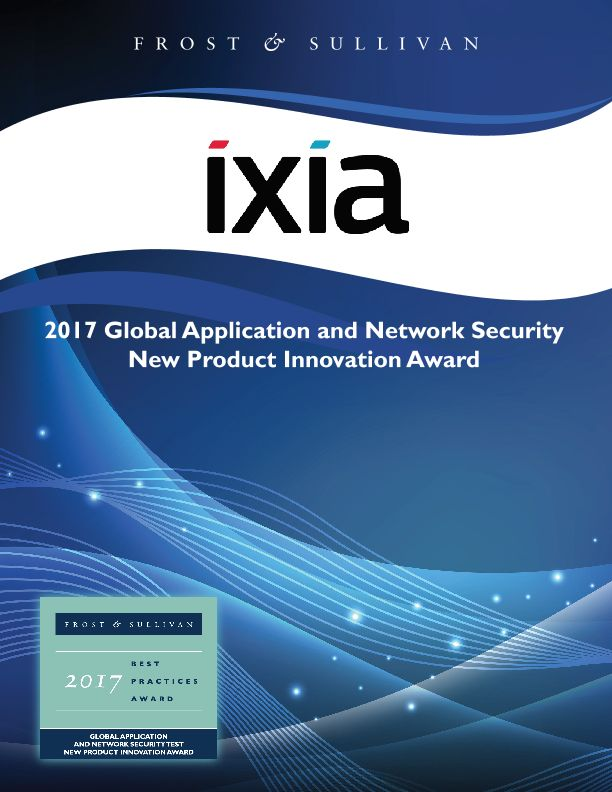 Frost & Sullivan 2017 Global Application and Network Security New Product Innovation Award