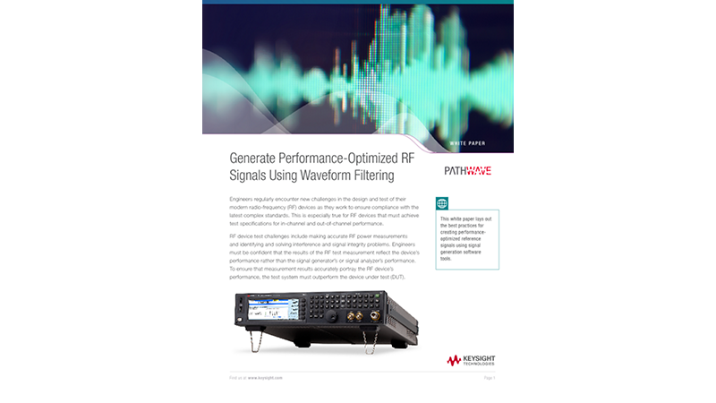 Generate Performance-Optimized RF Signals Using Waveform Filtering