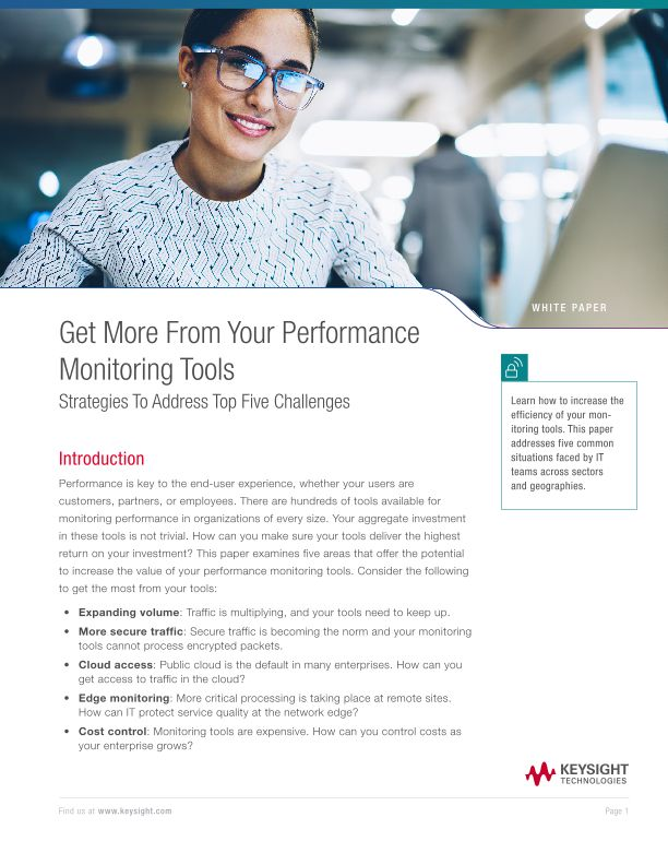 Get More From Your Performance Monitoring Tools