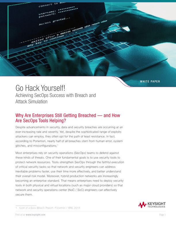 Go Hack Yourself! Achieving SecOps Success with Breach and Attack Simulation